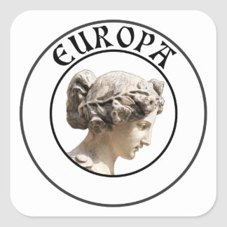 Europa: Be Proud to Show your Euro Roots! Square Sticker