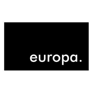 europa. business card template