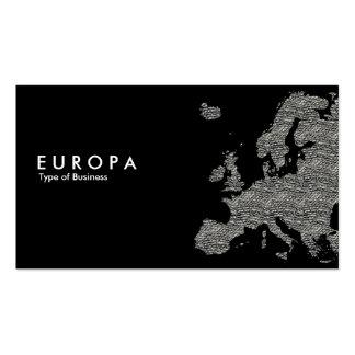 EUROPA Concrete - Black Business Card