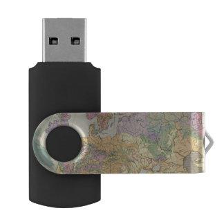 Europa - Geologic Map of Europe Swivel USB 2.0 Flash Drive