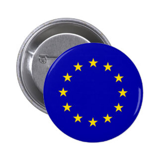 Europa High quality Flag Pinback Buttons