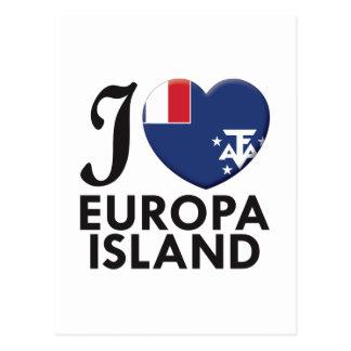 Europa Island Love Postcard