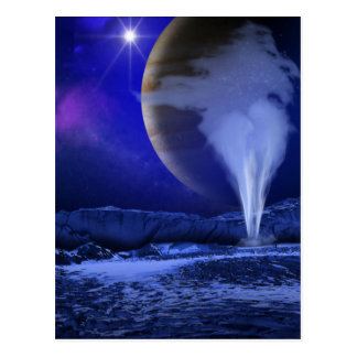 Europa Jupiter Moon Space Art Postcard