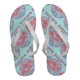 Europa Jupiter s Moon Men s Beach Sandal Shoe Flip Flops
