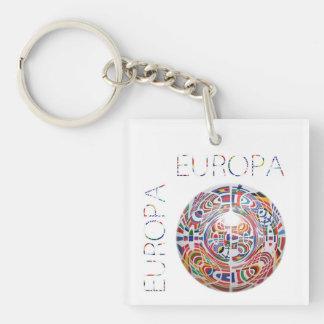 Europa Double-Sided Square Acrylic Key Ring