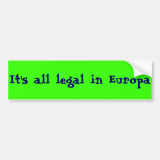Europa, Land of the Free Bumper Sticker