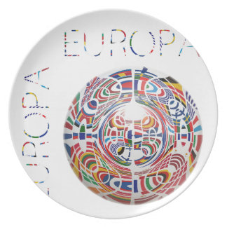 Europa ! party plates