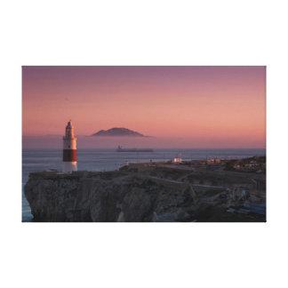 Europa Point Sunset Canvas Print