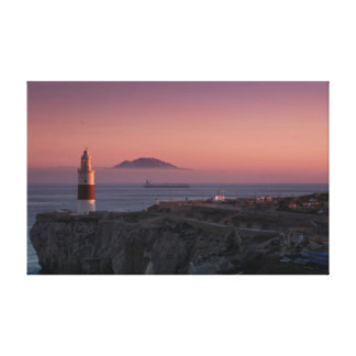 Europa Point Sunset Stretched Canvas Print