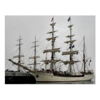 Europa Tall Ship in Halifax Port Postcard