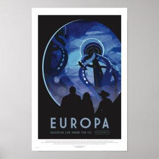 Europa Tour - Retro Space Travel Art Poster