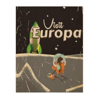 Europa vintage travel poster wood prints