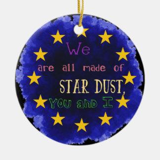 Europe - a star map ceramic ornament