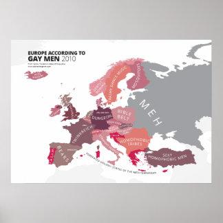 Europe According to Gay Men Poster