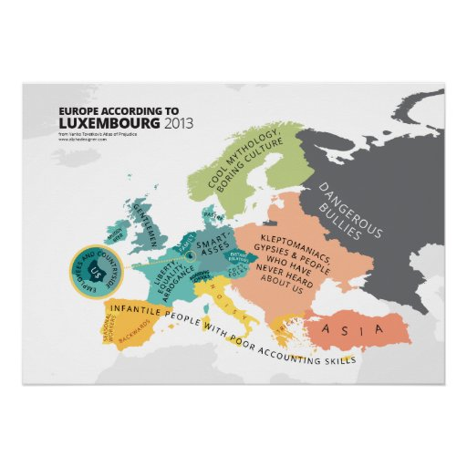Europe According to Luxembourg Posters