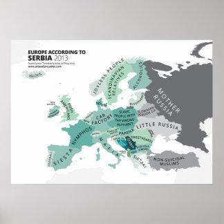 Europe According to Serbia Poster