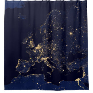 Europe At Night - Shower Curtain