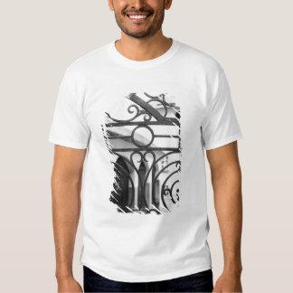 Europe, Austria, Salzburg. Detail of metal gate, T Shirts
