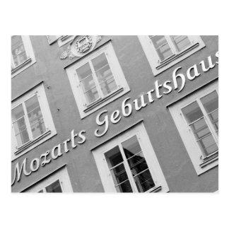 Europe, Austria, Salzburg. Mozart's Birthplace Postcard