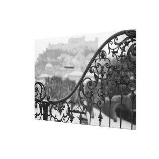 Europe, Austria, Salzburg. View of the Old City Canvas Print