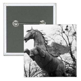 Europe, Austria, Salzburg. Winged horse statue, 15 Cm Square Badge