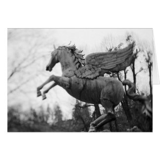 Europe, Austria, Salzburg. Winged horse statue, 2 Greeting Card