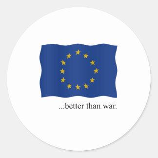 Europe - better than war classic round sticker