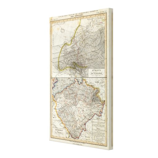 Europe Climate Map Canvas Prints