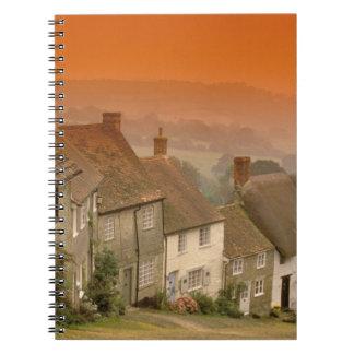 Europe, England, Dorset, Shaftesbury. Gold hill Notebook