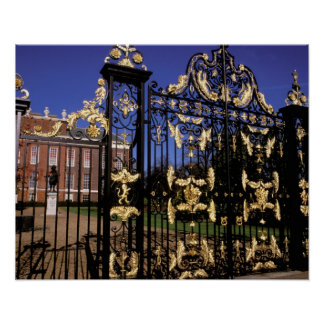 Europe, England, London. Gilded gate outside of 2 Poster
