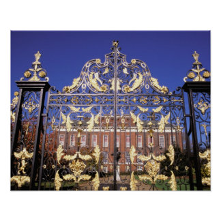 Europe, England, London. Gilded gate outside of Poster