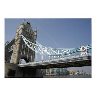 Europe, England, London. Tower Bridge over the Photo Print
