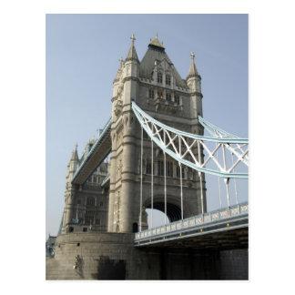 Europe, England, London. Tower Bridge over the Postcard