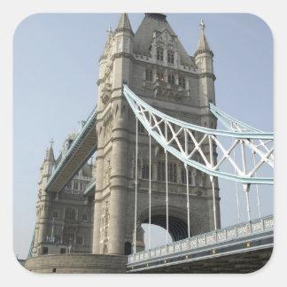 Europe, England, London. Tower Bridge over the Square Sticker