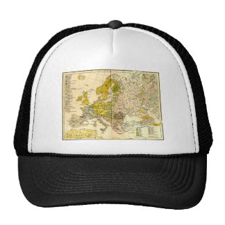 Europe ethnic map 1897 (hungarian version) cap