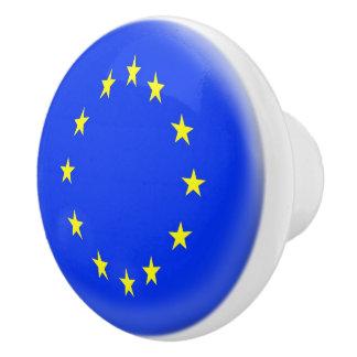 Europe European Flag Stars Nation Euro Ceramic Knob