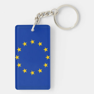 Europe flag key ring