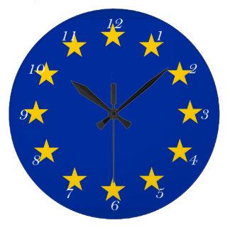 Europe flag large clock