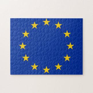 Europe flag puzzle
