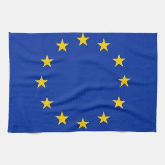Europe flag tea towel