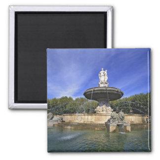 Europe, France, Aix-en-Provence. Fontaine de Square Magnet
