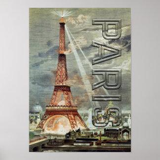 Europe France City Paris Eiffel Tower Landmark Poster