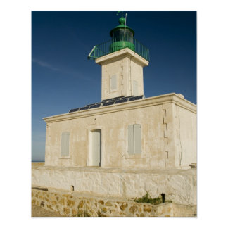 Europe, France, Corsica, Ile Rousse.  Lighthouse Poster