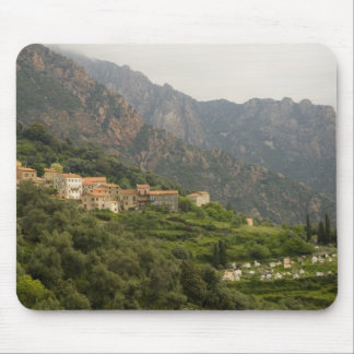 Europe, France, Corsica, Ota.  Town of Ota and Mouse Pad