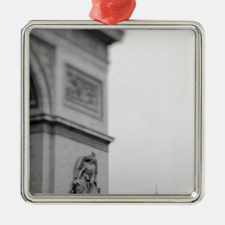 Europe, France, Paris. Arc de Triomphe and 2 Silver-Colored Square Decoration