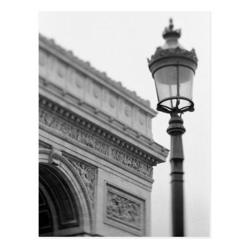 Europe, France, Paris. Arc de Triomphe and Post Card