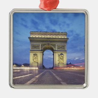 Europe, France, Paris. Arc de Triomphe as viewed Silver-Colored Square Decoration