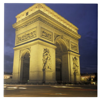 Europe, France, Paris. Arc de Triomphe Large Square Tile