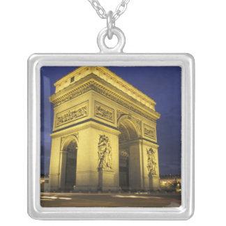 Europe, France, Paris. Arc de Triomphe Square Pendant Necklace