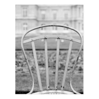 Europe, France, Paris. Chair, Jardin du Postcard